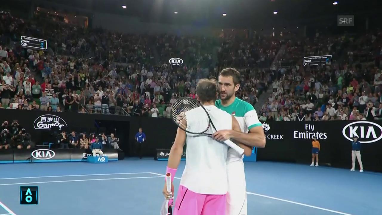 Nadal muss gegen Cilic aufgeben