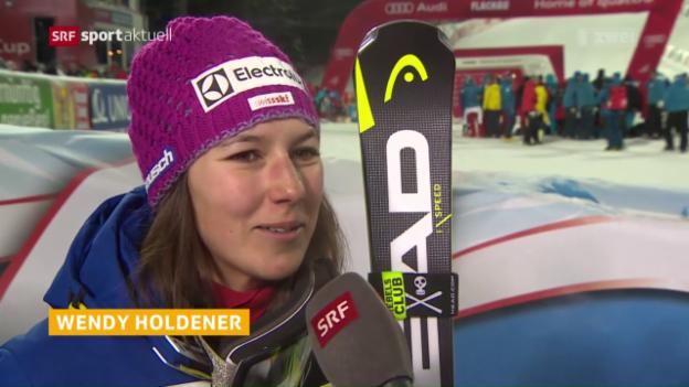 Video «Holdener auch in Flachau auf dem Podest» abspielen