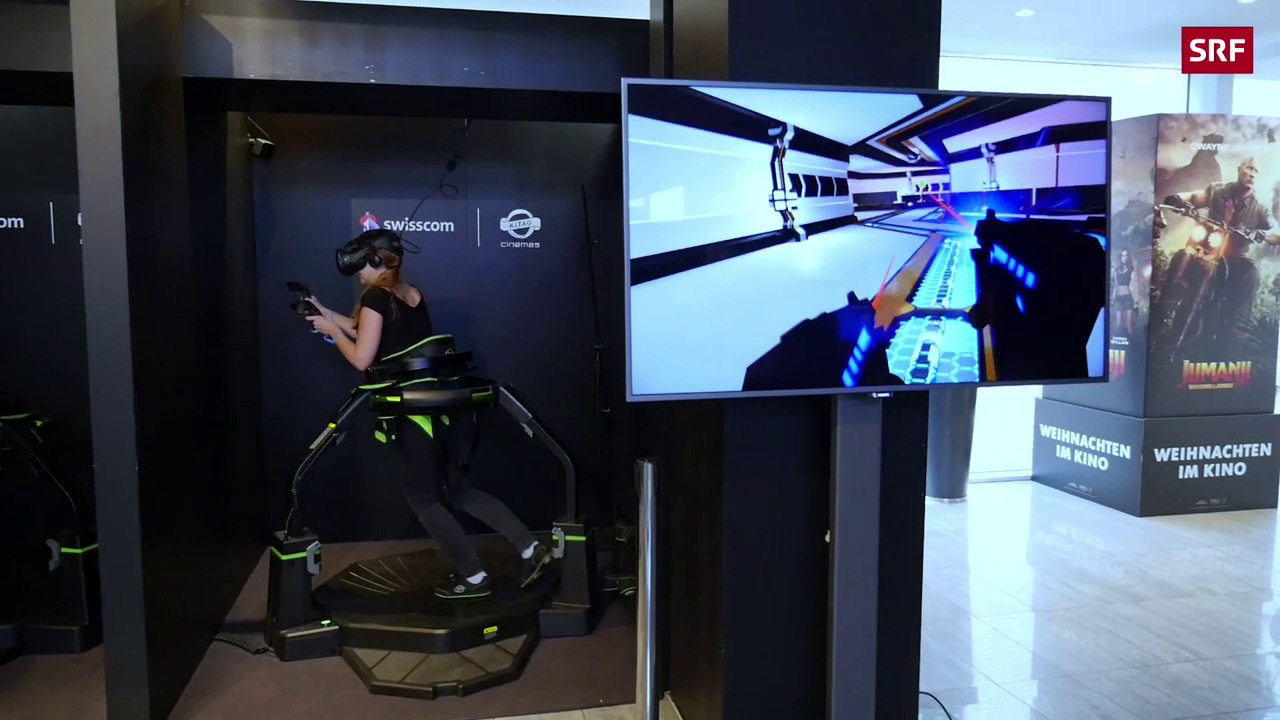 So funktioniert eine VR-Treadmill