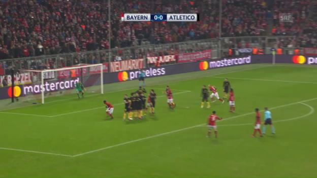Video «Bayern gewinnt dank Lewandowski» abspielen