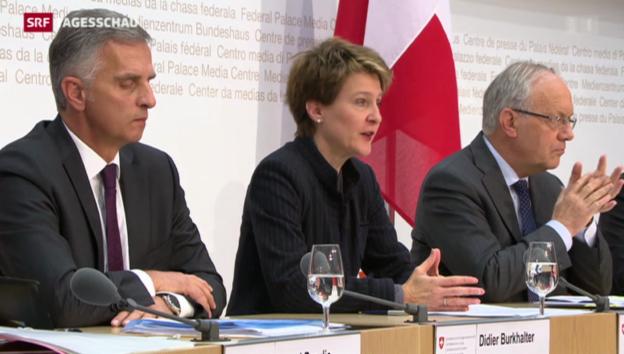 Video «Bundesrat empfiehlt Nein zur SVP-Initiative» abspielen