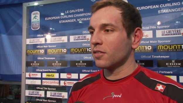 Video «Curling: EM, Interview mit Sven Michel» abspielen