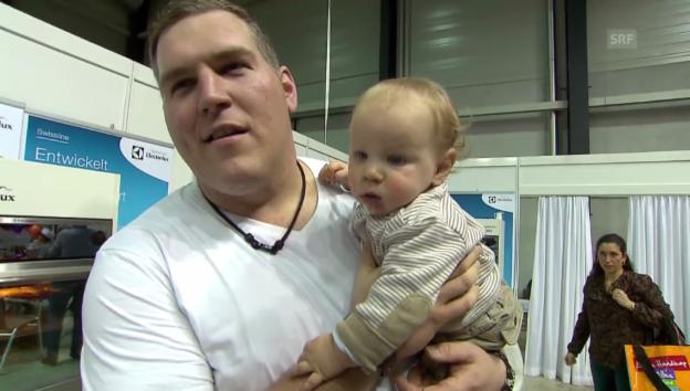 Video «Christian Stucki mit dem kleinen Xavier im «g&g»-Interview» abspielen