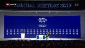 Video «FOKUS: Wie Trump die WEF-Diskussionen dominiert» abspielen
