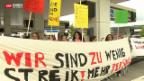 Video «Streikende Angestellte» abspielen