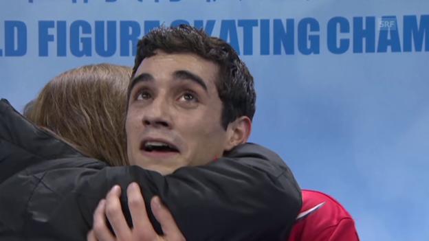 Video «Eiskunstlaufen: WM 2015, Kür Javier Fernandez» abspielen