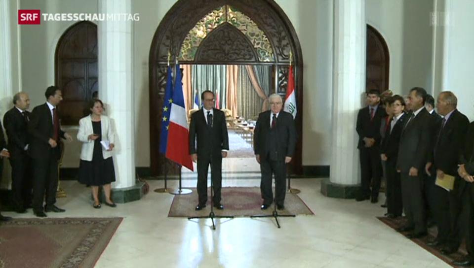 Hollande zu Besuch in Bagdad