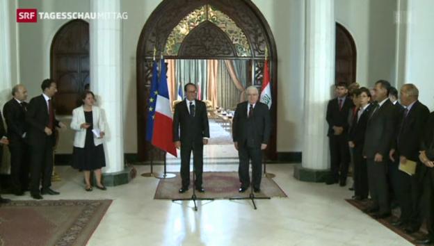 Video «Hollande zu Besuch in Bagdad» abspielen
