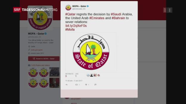 Video «Grenzübergänge zu Katar sind geschlossen» abspielen