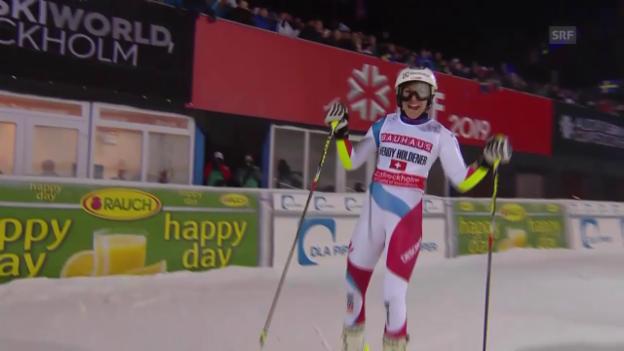 Video «Holdener fährt zum 1. Weltcup-Sieg» abspielen