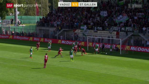Video «Fussball: Vaduz - St.Gallen» abspielen