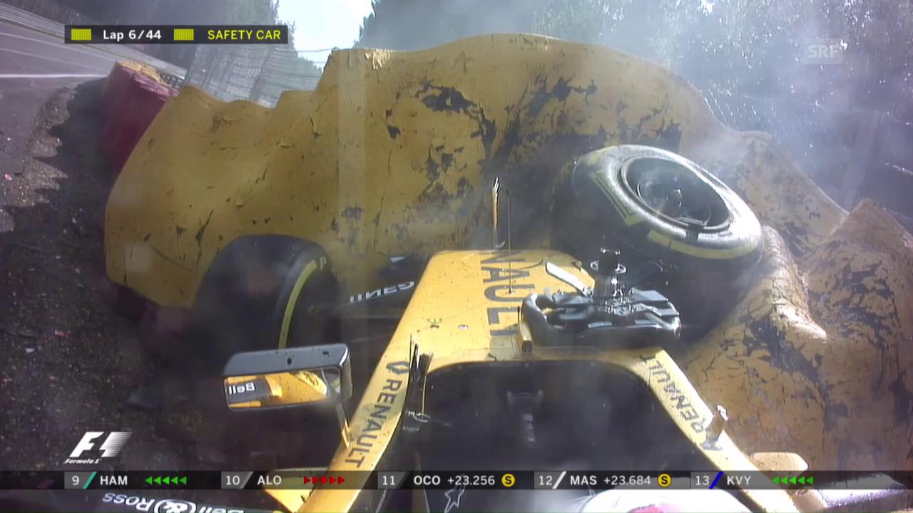 Der heftige Crash von Magnussen in Eau Rouge