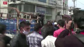 Video «Nepal überfordert mit Katastrophe» abspielen
