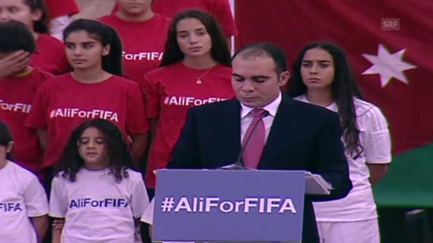 Video «Fussball: Prinz Ali gibt seine Kandidatur bekannt» abspielen