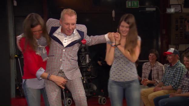 Video «Zu Gast bei Aeschbacher: Elena und ihr Lachen» abspielen