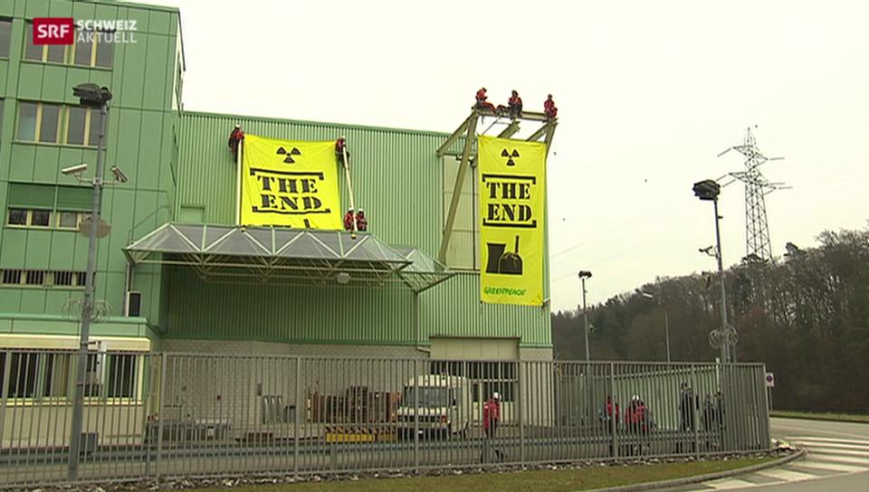 Greenpeace stürmt AKW Beznau