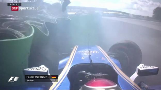 Video «Wehrlein crasht im Training» abspielen