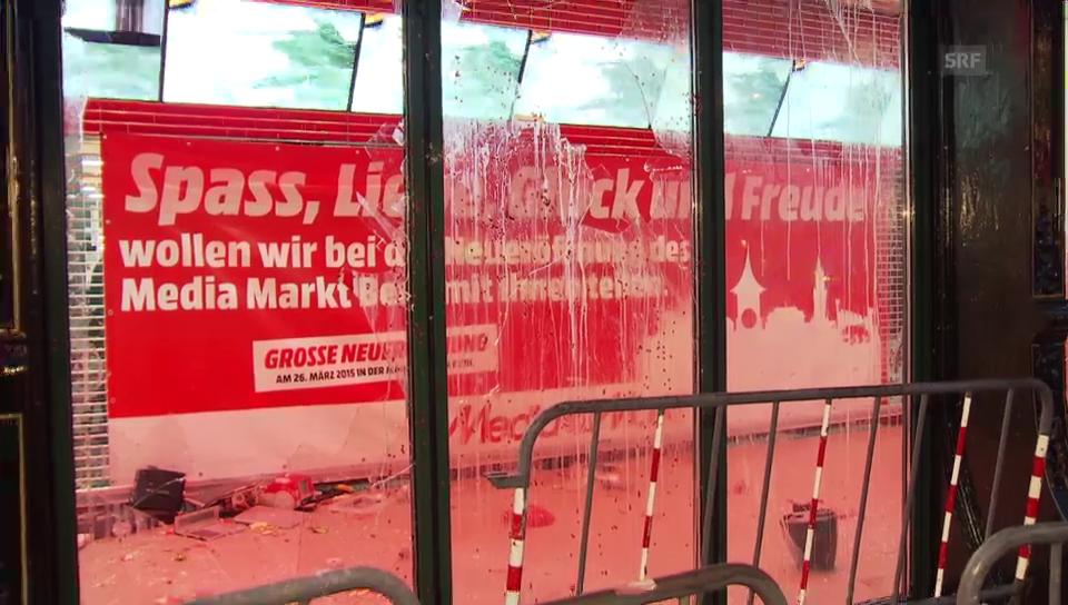 Protestaktion gegen Berner Media Markt (unkommentiert)