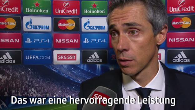 Video «Fussball: CL, Basel-Ludogorets, Interview Sousa» abspielen