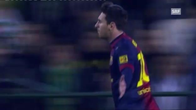 Video «Lionel Messi knackt Gerd Müllers Rekord» abspielen