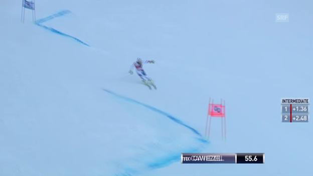 Video «Ski Alpin: Weltcup, Riesenslalom Alta Badia, 1. Lauf Gino Caviezel» abspielen