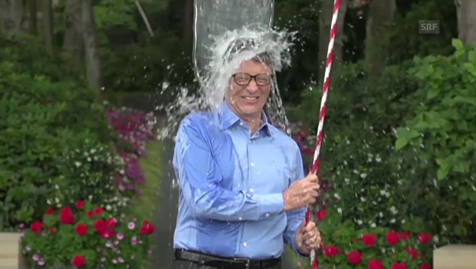 Bill Gates' Ice Bucket Challenge (Englischer Originalton)