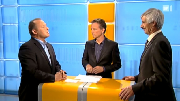 Video «Streitgespräch: SVP-Nationalrat Andreas Aebi und Milchbauer Roland Werner» abspielen