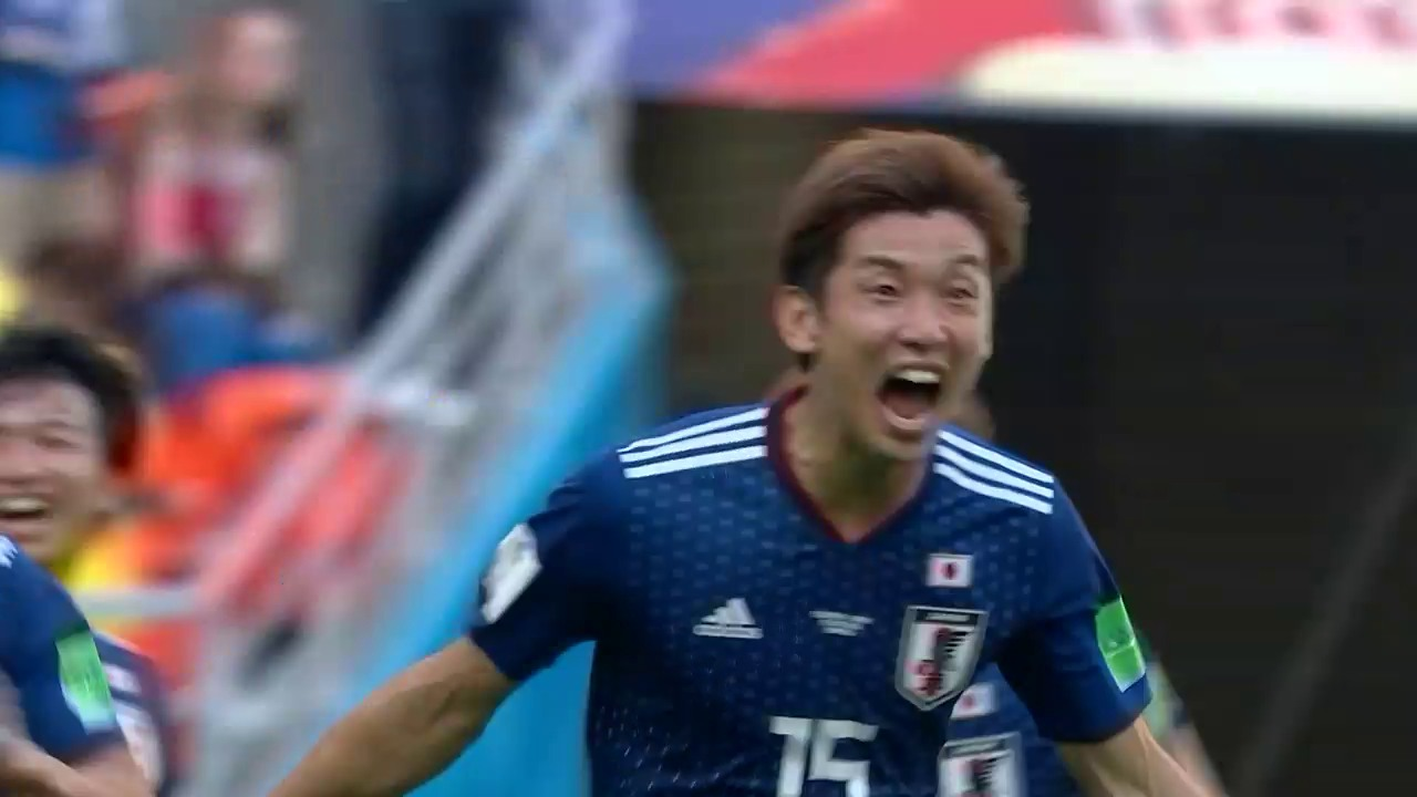 Japan besiegt Kolumbien in Überzahl