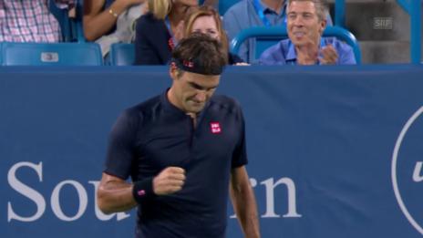 Link öffnet eine Lightbox. Video Federer - Wawrinka: Die Livehighlights abspielen