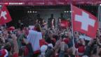 Video «Grosser Empfang für die Tennis-Helden» abspielen