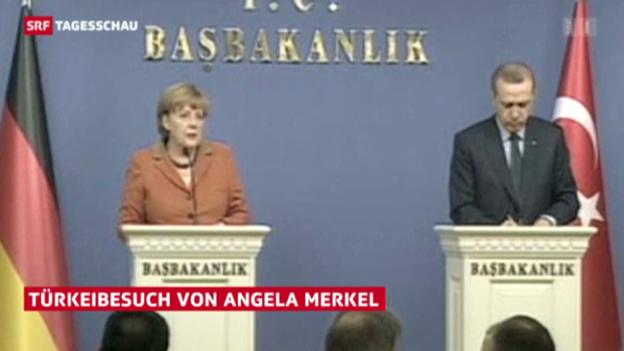 Video «Türkeibesuch von Angela Merkel» abspielen