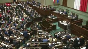 Video «EU mit Strafverfahren gegen Polen» abspielen