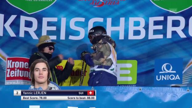 Video «Freeski: Halfpipe, 3. Final-Lauf Yannic Lerjen» abspielen