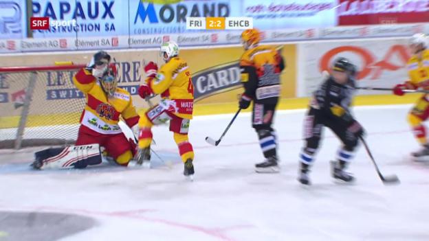 Video «Freiburg siegt gegen Biel mit 6:2» abspielen