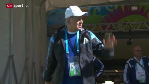 Video «FIFA WM 2014: Argentinien vor dem Achtelfinal gegen die Schweiz» abspielen