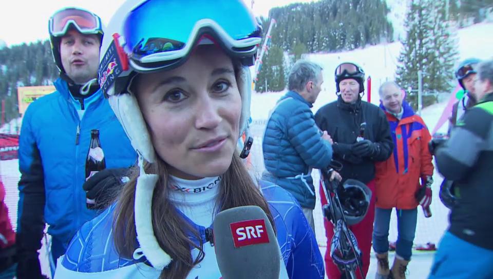 Gekämpft: Pippa Middleton beim «Inferno»-Skirennen
