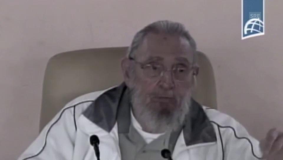 Fidel Castro im kubanischen Staatsfernsehen