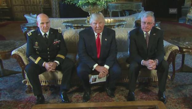Video «Trump lobt McMaster (unkommentiert)» abspielen