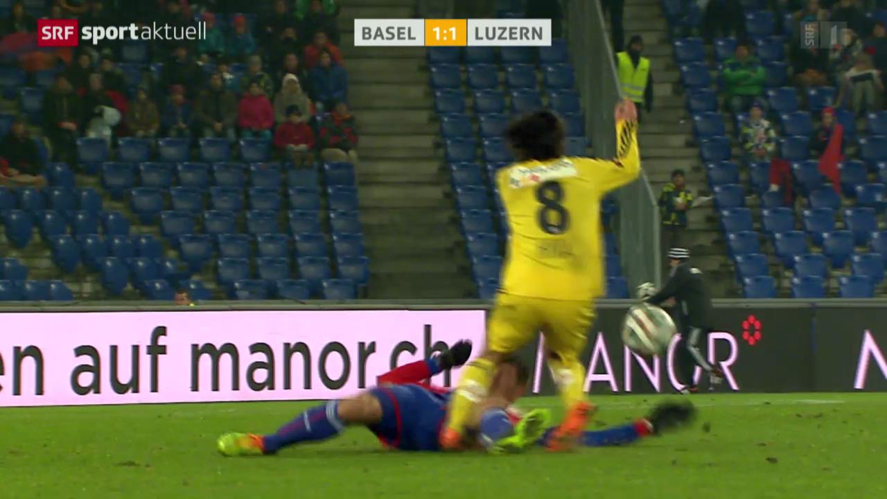 Fussball: SL, Basel - Luzern