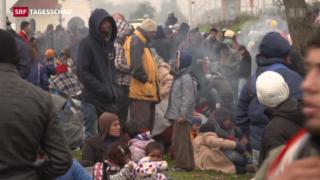 Video «Slowenien überfordert mit Flüchtlingsansturm» abspielen