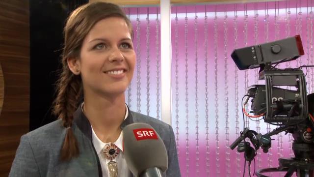 Melanie Oesch bei einer Probeaufnahme im «g&g»-Studio