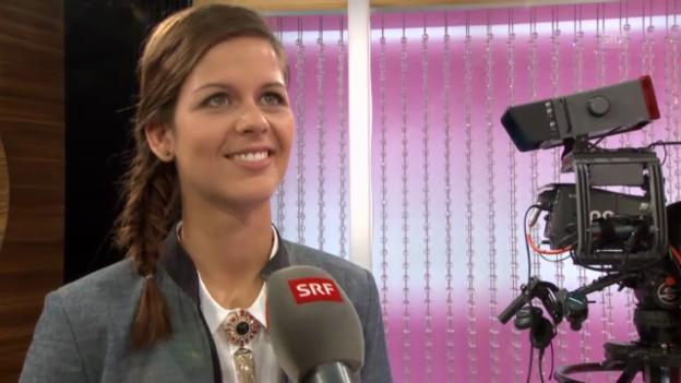 Video «Melanie Oesch bei einer Probeaufnahme im «g&g»-Studio» abspielen