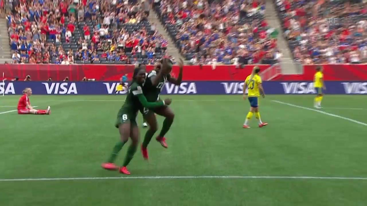 Fussball: FIFA Frauen-WM, Schweden - Nigeria