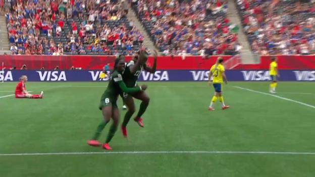Video «Fussball: FIFA Frauen-WM, Schweden - Nigeria» abspielen