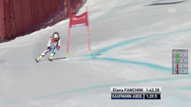 Video «Ski: Kaufmann-Abderhaldens Fahrt in Lake Louise» abspielen