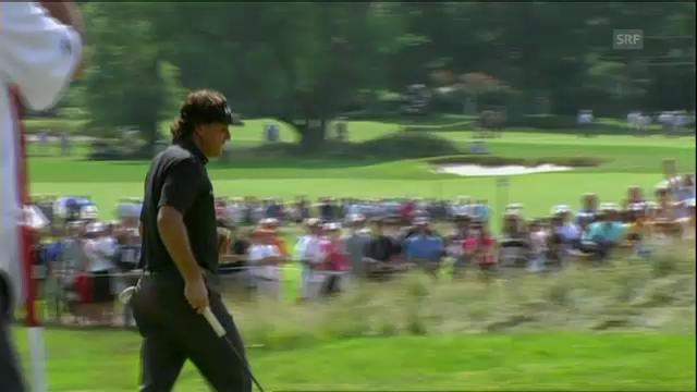 Golf: Erfolgreicher Put von Phil Mickelson