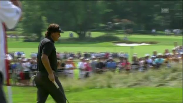 Video «Golf: Erfolgreicher Put von Phil Mickelson» abspielen