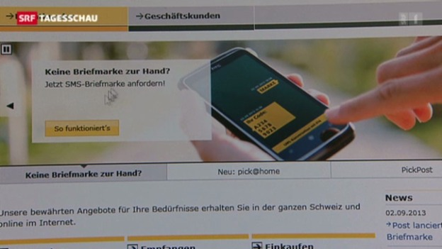 Video «Briefmarke per SMS» abspielen