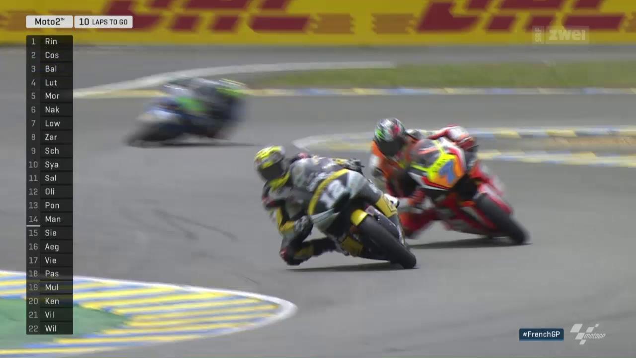 Lüthi fährt in Le Mans auf das Podest