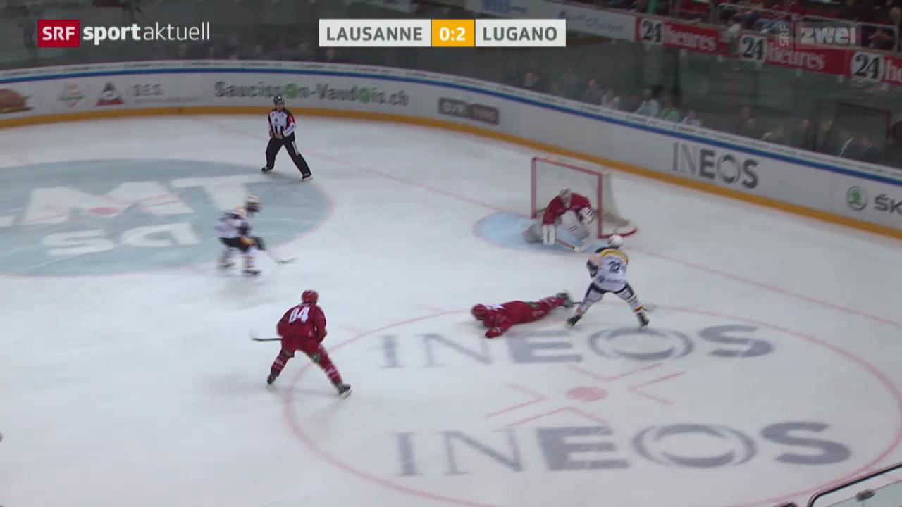 Eishockey: Lausanne - Lugano